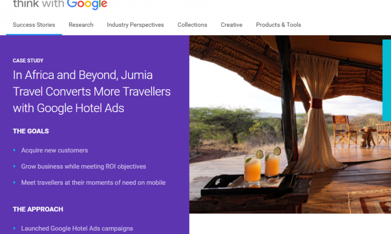 Google study Jumia Travel